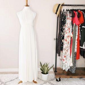 Dresses & Skirts - Unbranded Ivory Halter Low Back Maxi Dress